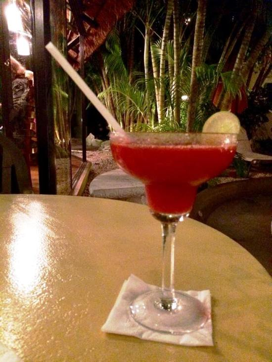 Strawberry margarita, yum yum!